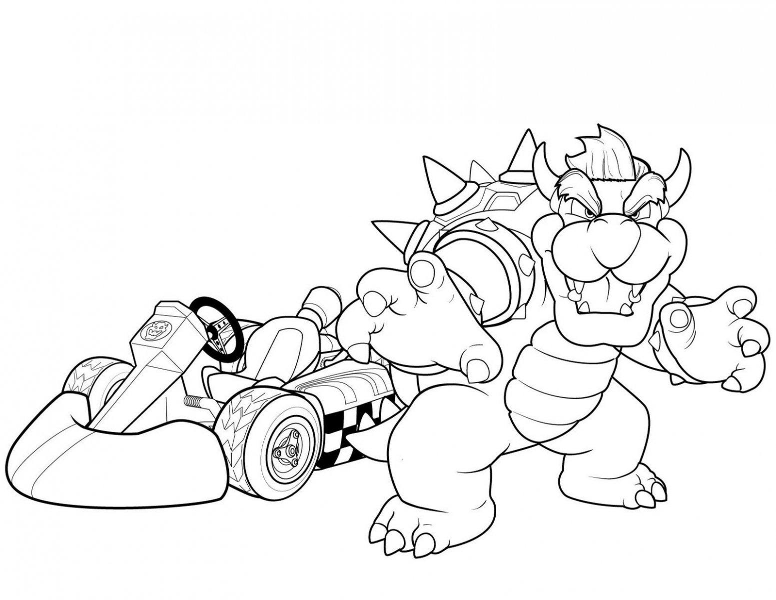 Mario Kart para colorear
