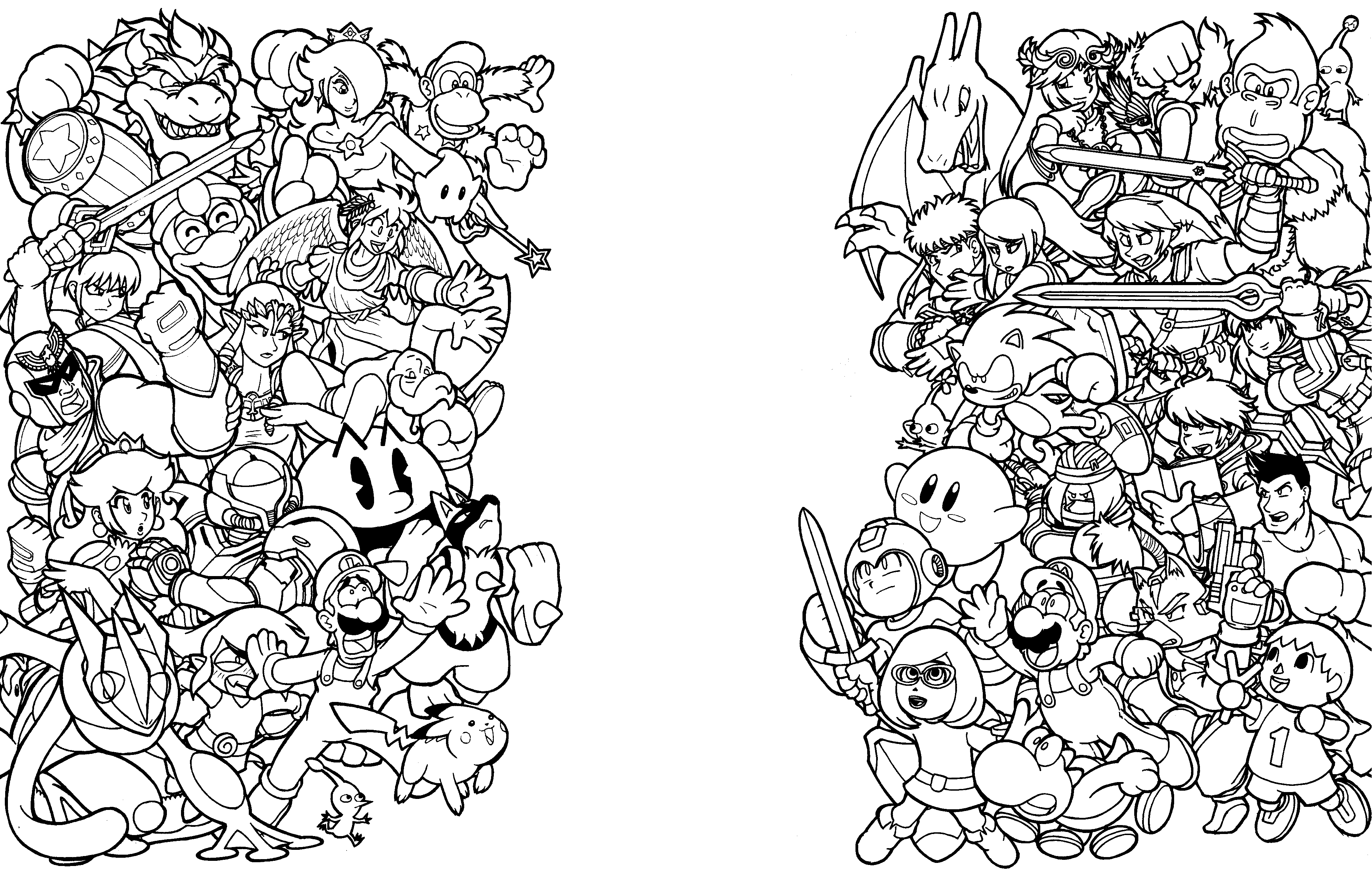 Dibujos De Super Mario Para Colorear E Imprimir 2: Super Smash Bros Para Colorear